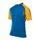 PEARL iZUMi X-Alp Jersey Men mykonos blue/blazing orange